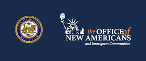 Mayor's office of New Americans and Immigrat Communities logo.